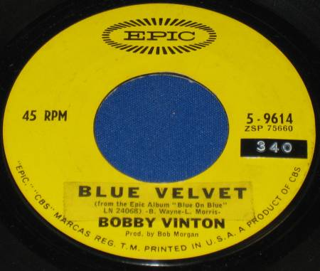 IS THERE A PLACE - BLUE VELVET-BOBBY VINTON