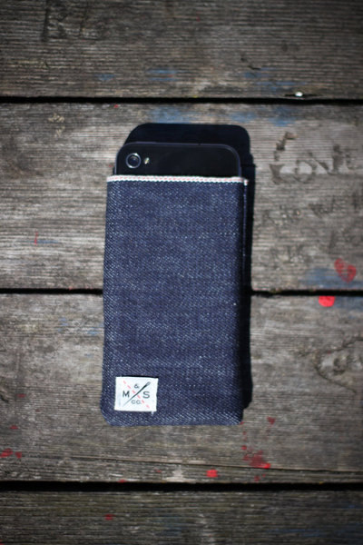 Iphone ipad selvedge denim sleeve ms&co3